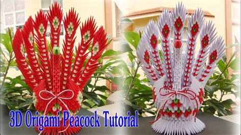 How To Make A 3d Peacock Out Of Paper - 3d origami peacock v2 tutorial tutorial 3d pavo real de