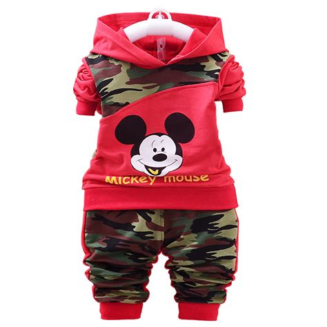 Hoodie Mickey Boy Cloth 2015 baby boys clothing sets mickey mouse autumn coats two cloth new born baby
