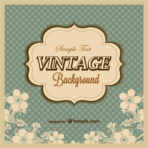 templates free vintage vintage polka dots background template vector free