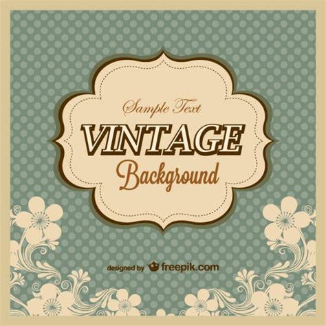 Plantilla vintage con fondo de lunares   Descargar