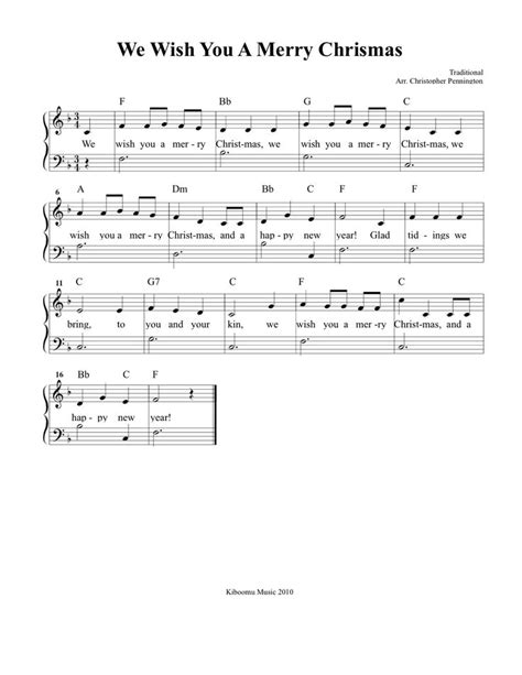 wish song with name we wish you a merry sheet and song for