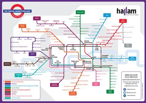 digital marketing tube map a guide to internet marketing