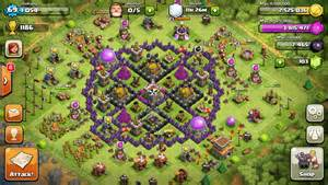 Level 8 town hall defense clash of clans level 8 base design
