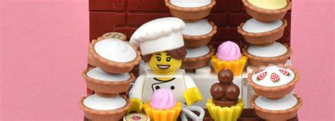 Lego Minifigures Series 17 Gourmet Chef Minifigure Seri 3 Pastry Pi lego collectible minifigures series 17 vignettes gourmet chef brick fanatics