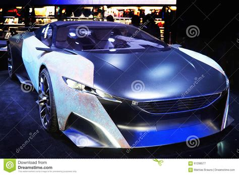 peugeot made concept car stock photo image 61298577