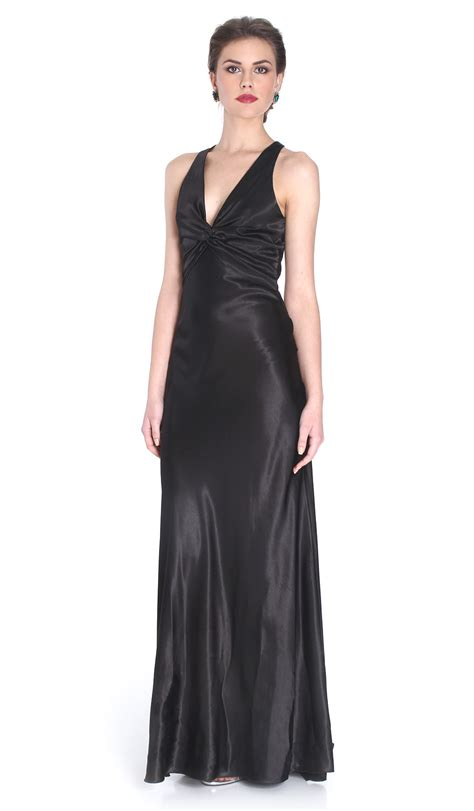 Wst 9645 Lace Neck Dress Ml black v neck gown scala hire dresses