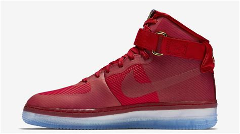nike air force one comfort nike air force 1 high cmft lux university red sneaker