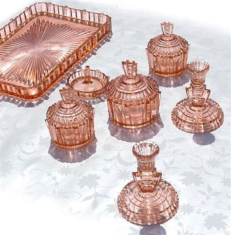 depression glass colors depression glass vanity set the cut and