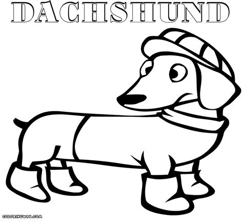 wiener dog coloring page dachshund coloring pages coloring pages to download and