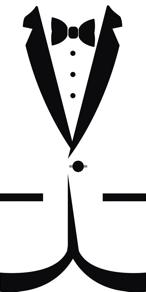 cocktail clipart black and white free clipart of a black and white formal bow tie and tuxedo