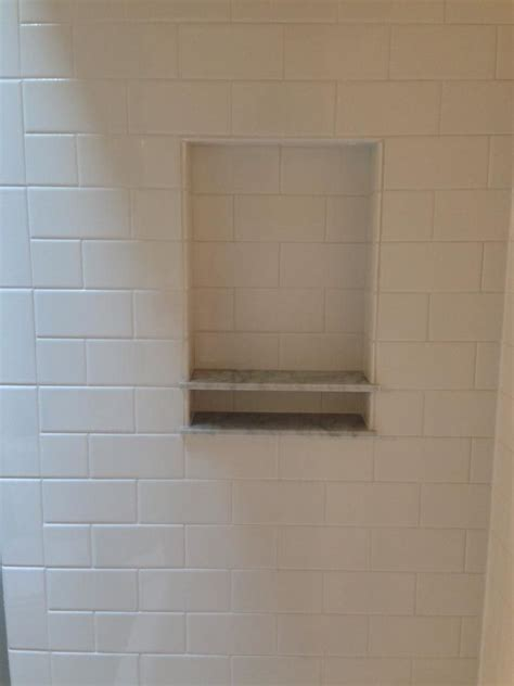 subway tile shower niches bathrooms pinterest 15 best images about bathroom tile and niche ideas on