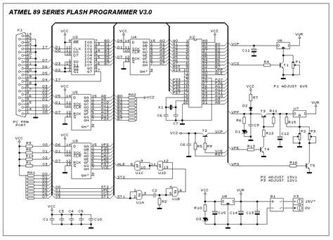 ic programmer circuit diagram at89c51 diy programmer basic circuit circuit