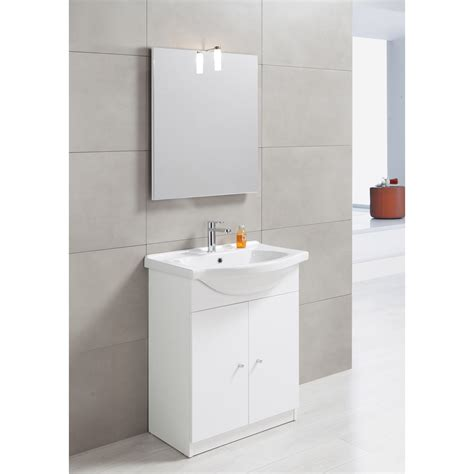 meuble vasque l 60 x h 80 x p 35 cm blanc leroy