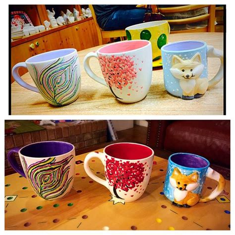 color me mind color me mine mugs before after color me mine