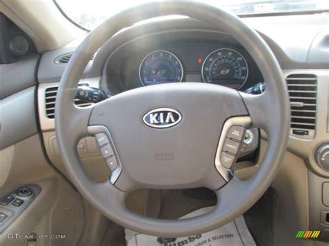 2007 Kia Interior 2007 Kia Optima Lx Beige Steering Wheel Photo 39863084