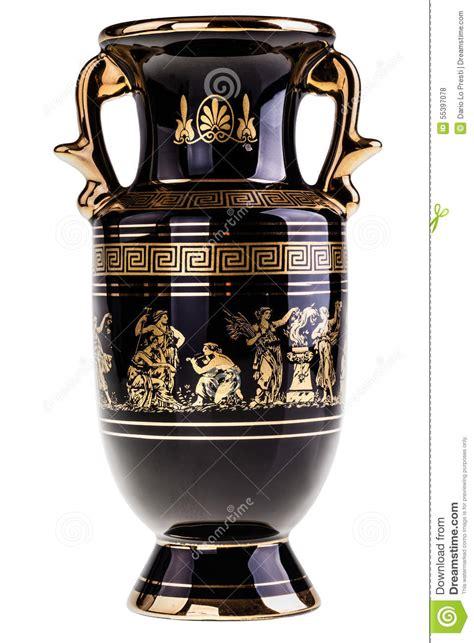 vaso greco vaso greco dorato fotografia stock immagine di costoso