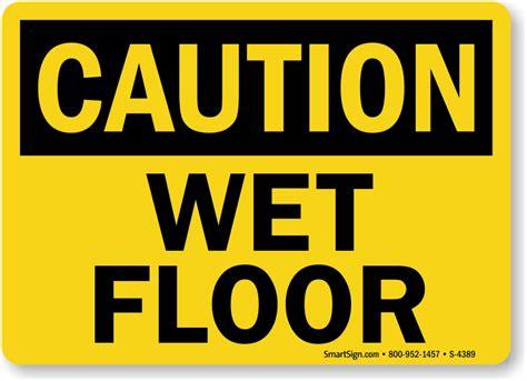 Wet Floor Caution Trip Fall Sign Sku
