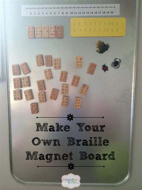 how to make braille cards make your own braille magnet board velcro patches play