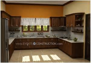 Kitchen Designs Kerala Evens Construction Pvt Ltd Modern Kerala Kitchen Interior