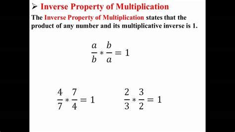 the property of a inverse property of multiplication