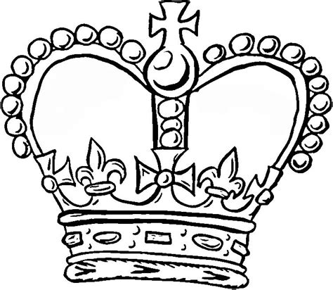 crown coloring pages coloring home
