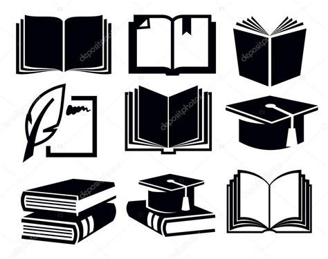 imagenes a blanco y negro de libros 237 cones do livro vetor de stock 169 bioraven 24540889