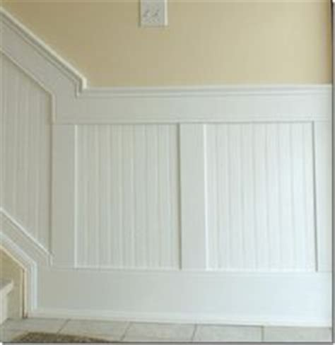 Wide Wainscoting by Beadboard Looks More Formal With Wide Baseboard And Ledge