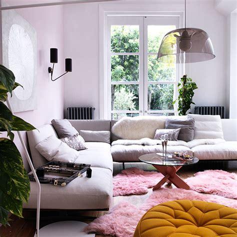 hot pink living room housetohome co uk modern pink laid back living room decorating ideal home