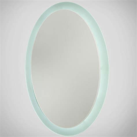 oblong bathroom mirrors oval led illuminated bathroom mirror