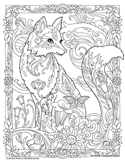 coloring pages for adults fox 501 best images about animal mandelas zentangles etc to
