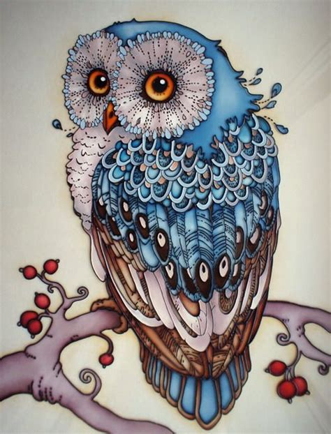 25 Best Ideas About Owl Art On Pinterest Owl Watercolor Really Owl Drawings With Color