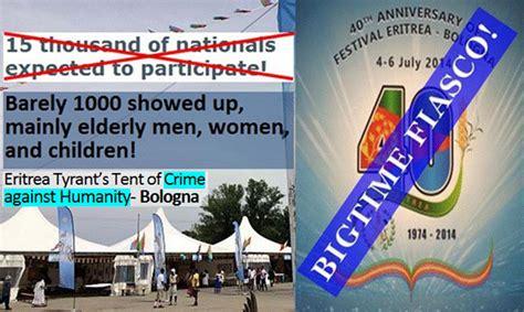 bologna italy 2013 eritrean solutions for eritrean eritrea tyrant s bologna festival bigtime fiasco