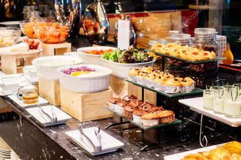 Breakfast Buffet Catering In Hotel Restaurant Stock Breakfast Buffet Catering