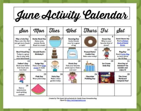 8 Best Calendar Ideas For 2011 by June Activity Calendar Daily And Frugal Summer Ideas