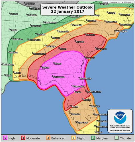 map of tornadoes today prediction center severe weather outlook pwo