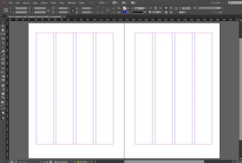 indesign grid template indesign a5 4 column grid template the grid system