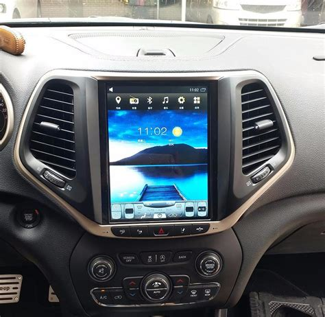 vertical screen android navigation radio  jeep