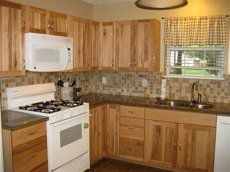 rustic hickory cabinets black laminate countertops ge choose right backsplash for hickory cabinets with dark