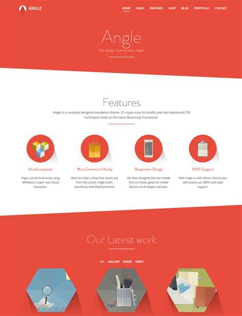 bootstrap themes angle 10 best responsive flat wordpress themes