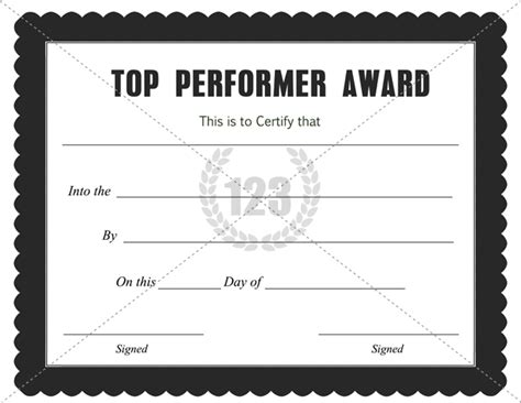 performer certificate templates best performer appreciation quotes quotesgram