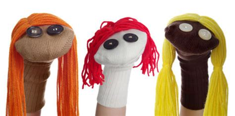 a sock puppet person improve children s conversational skills with home made
