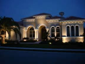 lights on house with outdoor lighting ta nighttime lighting design