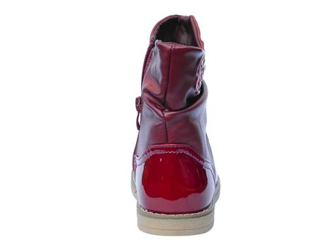 size 12 kid shoes new toddler burgundy patent ankle boots fur lined uk