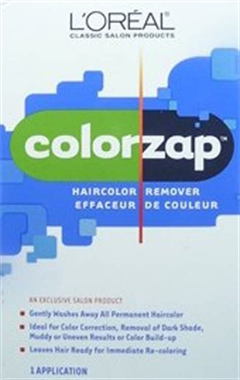 loreal color zap hair color removing products available