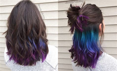 dye hair colors underlights the rainbow hair dye you can sport at the