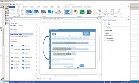 windows visio windows 7 how can actually fit the page size to the