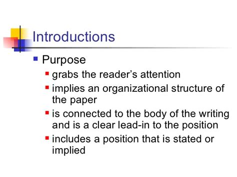 How To Write A Persuasive Essay Introduction by Persuasive Essay Intro