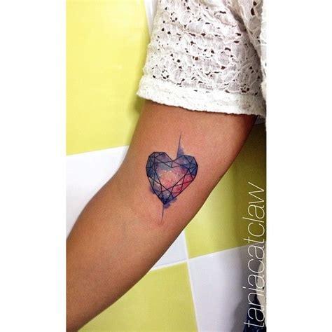 geometric tattoo mini love this geometric heart by tania catclaw the lines make