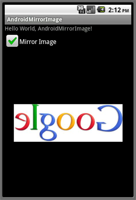 layout mirroring android android er generate a mirror image using matrix postconcat