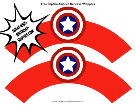 Superhero Printables Captain America Printables Pinterest Printables Cupcake Wrappers And Captain Label Template